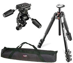 Manfrotto MT190XPRO4 4 Section Aluminum Tripod Kit W/ 808RC4