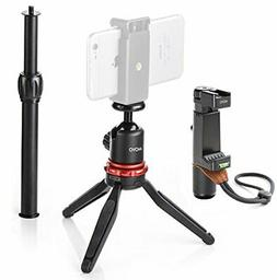 Movo MV-T1 Aluminum Alloy Tabletop Tripod with Adjustable Ba