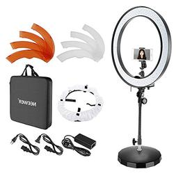 Neewer 18-inch Outer Dimmable Bi-color SMD LED Ring Light wi
