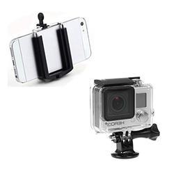 Movo Photo UMC01 Universal Smartphone and GoPro Tripod Mount