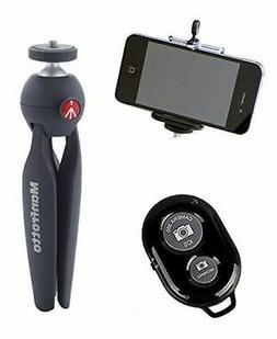 Manfrotto PIXI Mini Tripod Kit w/ Ivation Wireless Bluetooth