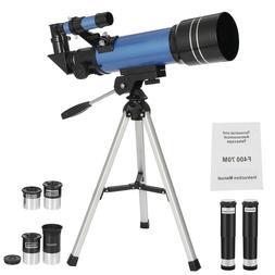 70mm Portable Astronomical Refractor Telescope Travel Scope