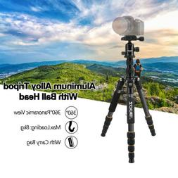 Zomei Pro Q666C Portable Carbon Fiber Tripod Monopod Ball He