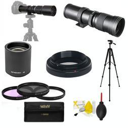 HD TELEPHOTO ZOOM LENS  420-1600MM + TRIPOD FOR NIKON D600 D