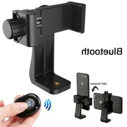 Tripod Cell Phone Holder Adapter Mount Stand Smartphone Blue