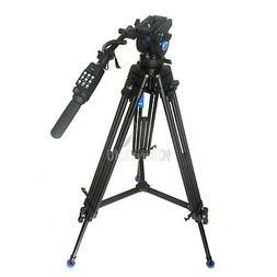 Video Camera Camcorder Fluid Tripod Benro KH-25N + Remote Co