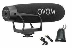 Movo VXR2021 Supercardioid Shotgun Condenser Microphone for