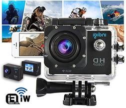 Indigi Waterproof 4K HD Outdoor Action Sports DV Cam - WiFi
