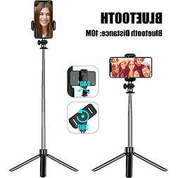 Wireless Extendable Selfie Stick Monopod Tripod +Remote Shut