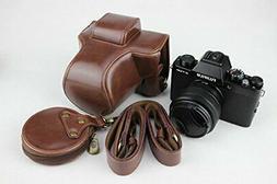 X-T100 Case, BolinUS Handmade PU Leather FullBody Camera Cas