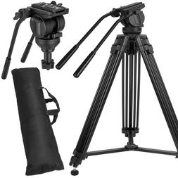 Professional Heavy-duty Tripod Video Camera with Fluid Head